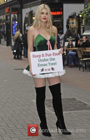 Ashley James - Ashley James encourages everyone to 'Keep It Fur Free Under The Christmas Tree!' on Carnaby Street -...
