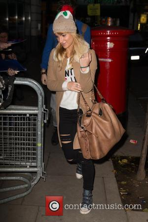 Aliona Vilani - Strictly Come Dancing 2015 finalists, Jay McGuiness and Aliona Vilani pictured arriving at the Radio 2 studio...