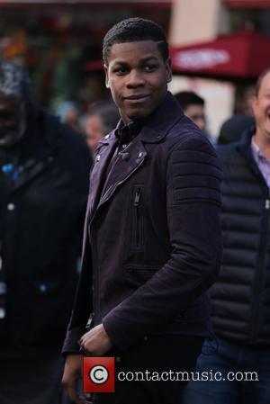 John Boyega - Star Wars sensation, John Boyega appears on Extra. at Universal studios - Los Angeles, California, United States...