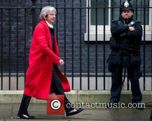 Theresa May MP , Secretary of State for the Home Department - Cabinet Members arrive and depart from the weekly...