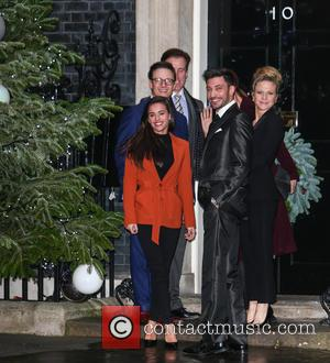 Georgia May Foote, Kellie Bright, Katie Derham, Anton Du Beke, Kevin Clifton and Giovanni Pernice