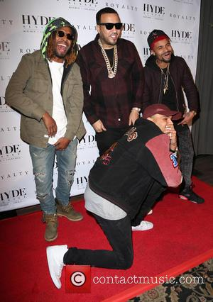 French Montana , Chris Brown - Chris Brown host his 'Royalty' album listening party - Arrivals at Hyde Sunset Kitchen...