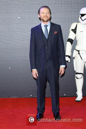 Simon Pegg - Star Wars: The Force Awakens - UK film premiere - London, United Kingdom - Wednesday 16th December...