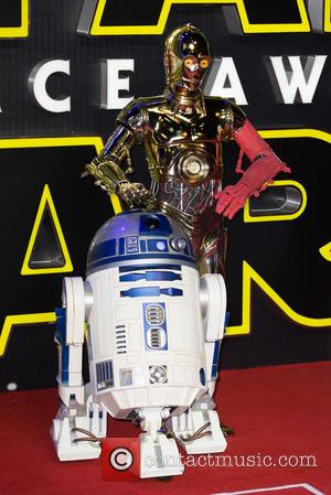 R2D2 , C3P0 - The European Premiere of 'Star Wars: The Force Awakens'  held at the Odeon and Vue,...
