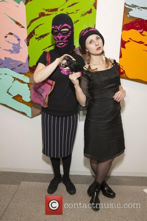 Pussy Riot and Minneette Desilva Of Gorilla Girls