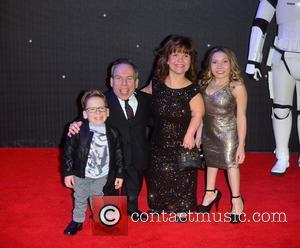 Harrison Davis, Warwick Davis, Samantha Davis and Annabel Davis