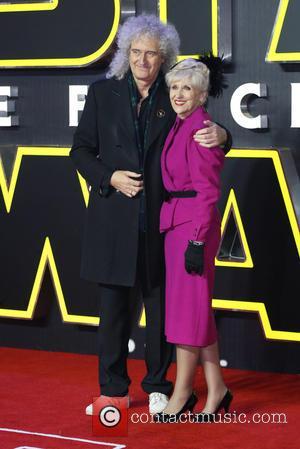 Brian May , Anita Dobson - Star Wars: The Force Awakens - UK film premiere - London, United Kingdom -...