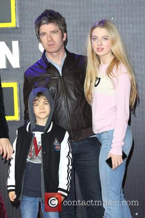 Noel Gallagher, daughter Anais , son Sonny - Star Wars: The Force Awakens - UK film premiere - London, United...