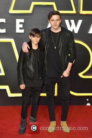 Brooklyn Beckham , Romeo Beckham - Star Wars: The Force Awakens - European film premiere held at the Odeon Leicester...