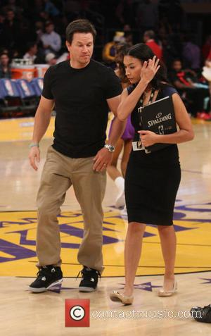 Mark Wahlberg - Celebrities at the Lakers Game. The Houston Rockets defeats the Los Angeles Lakers by the final score...