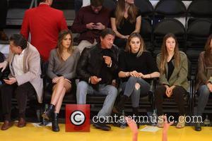 Sylvester Stallone, Sistine Rose Stallone, Sophia Rose Stallone and Scarlet Rose Stallone