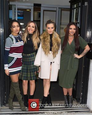 Little Mix, Jade Thirlwall, Perrie Edwards, Leigh-Anne Pinnock , Jesy Nelson - Little Mix pictured arriving at the Radio 2...