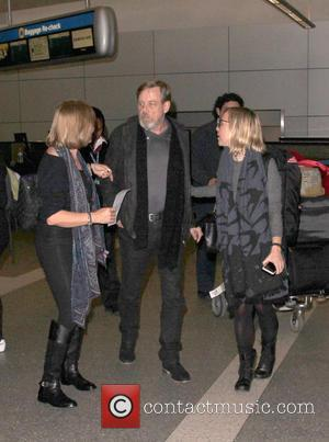 Mark Hamill, Marilou York , Chelsea Hamill - Mark Hamill is swarmed by 'Star Wars' fans as he arrives at...