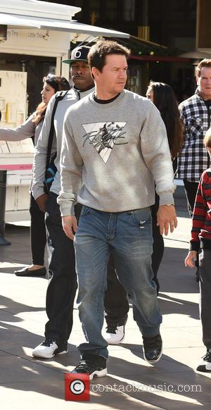 Mark Wahlberg - Mark Wahlberg takes his two eldest kids, Michael and Ella Rae Wahlberg, to a movie at The...