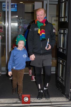 Chris Evans , Children - Chris Evans, Natasha Shishmanian, Children pictured leaving the Radio 2 studio after hosting the Chris...