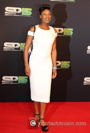 Denise Lewis - BBC Sports Personality Of The Year 2015 held at Odyssey Arena - Arrivals - Belfast, United Kingdom...