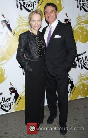 Laila Robins , Robert Cuccioli - Opening night of Fiddler On the Roof at the Broadway Theatre - Arrivals. at...