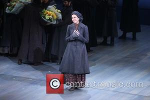 Jessica Hecht - Opening night of Fiddler On the Roof at the Broadway Theatre - Curtain Call. at Broadway Theatre,...