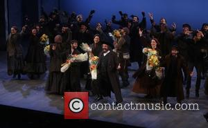 cast - Opening night of Fiddler On the Roof at the Broadway Theatre - Curtain Call. at Broadway Theatre, -...