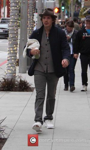 Lukas Haas - Lukas Haas out and about running errands wearing a trilby hat, jacket, jeans and white sneakers at...