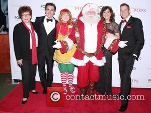 Judith Clurman, Brian D'arcy James, Elf, Santa Claus, Stephanie J. Block and Steven Reineke