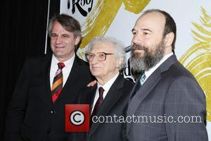 Bartlett Sher, Sheldon Harnick and Danny Burstein