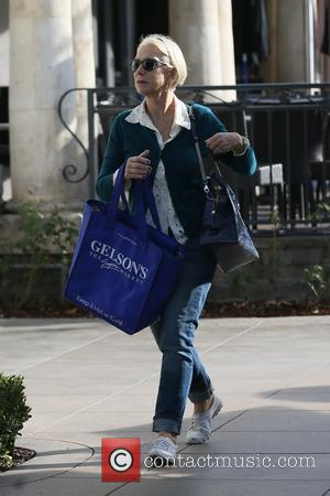 Helen Mirren - Helen Mirren visits the xmas house at The Grove - Los Angeles, California, United States - Wednesday...