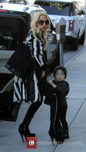 Rachel Zoe, SkylerBerman, Kaius Berman , pixelated - Rachel Zoe and their sons Skyler and Kaius Berman out in Beverly...