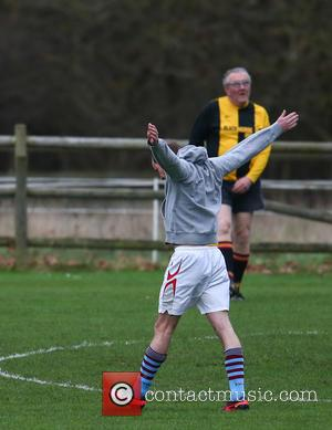 Prince William - Princes William and Harry play football for the Sandringham estate team at Castle Rising in Norfolk -...