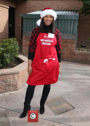 Garcelle Beauvais - Los Angles Mission Christmas Meal to the Homeless at Los Angles Mission - Los Angeles, California, United...
