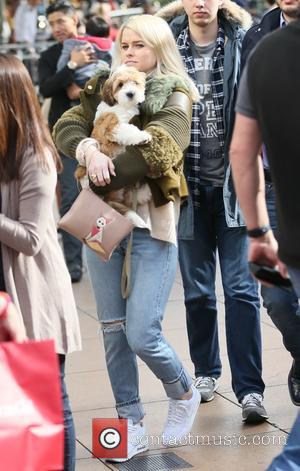 Alice Eve - Alice Eve out shopping at The Grove with her dog - Los Angeles, California, United States -...