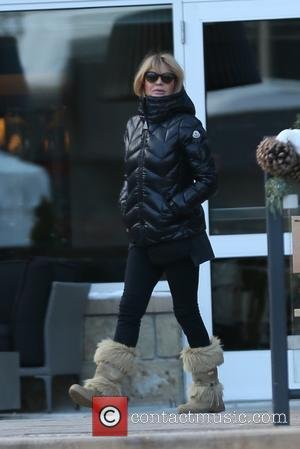 Goldie Hawn - Goldie Hawn and Kurt Russell leaving the grand opening of CHA CHA by Domingo Zapata in Aspen...
