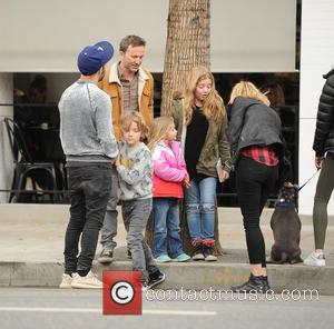 Pete Wentz, Breckin Meyer, Meagan Camper, Bronx Mowgli Wentz, Clover Meyer and Caitlin Willow Meyer
