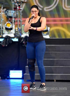 Jordin Sparks - Pitbull's New Year's Revolution Rehaersal at Bayfront Park at Bayfront Park - Miami, Florida, United States -...