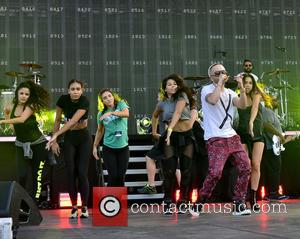Yandel - Pitbull's New Year's Revolution rehearsal at Bayfront Park at Bayfront Park - Miami, Florida, United States - Wednesday...