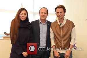 Jonathan Cheban, Naomi Hurvitz and Jerusalem Mayor Mr.nir Barakat