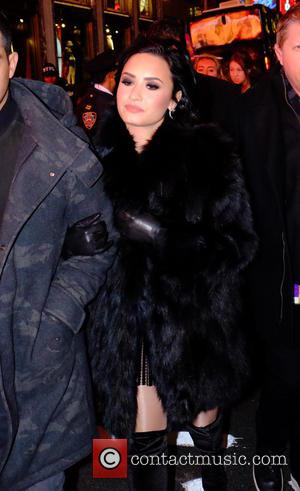 Demi Lovato - Celebrities at 2016 New Years Eve in Times Square at Times Square - Manhattan, New York, United...