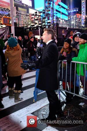 Ryan Seacrest - Celebrities at the 2016 New Years Eve in Times Square at Times Square - Manhattan, New York,...