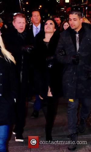 Demi Lovato - Celebrity at 2016 New Years Eve in Times Square at Times Square - Manhattan, New York, United...