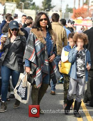 Garcelle Beauvais, Jaid Thomas Nilon , Jax Joseph Nilon - Garcelle Beauvais takes her two boys, Jaid and Jax, to...