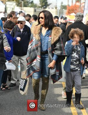 Garcelle Beauvais, Jaid Thomas Nilon and Jax Joseph Nilon