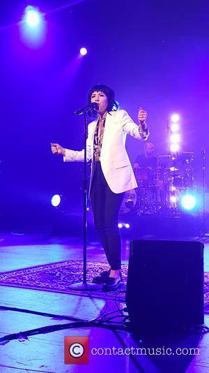 Carly Rae Jepsen - Carly Rae Jepsen performing live on stage as she sings out hits from her new album...