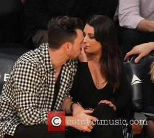 Lea Michele , Matthew Paetz - Celebrities watch the Los Angeles Lakers play The Golden State Warriors at Staples Center...