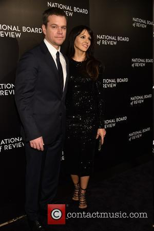 Matt Damon , Luciana - National Board of Review Gala at Cipriani 42nd.St - Arrivals at Cipriani 42nd.st. - New...