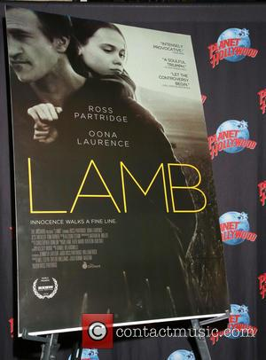 Atmosphere - Oona Laurence and Ross Partridge promote the film Lamb at Planet Hollywood Times Square restaurant. at Planet Hollywood...