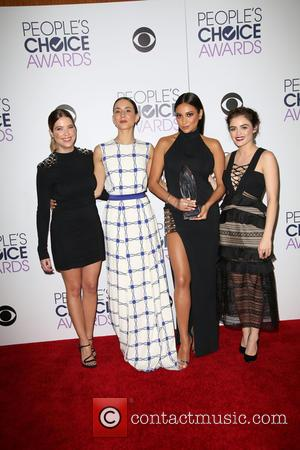 Ashley Benson, Troian Bellisario, Shay Mitchell , Lucy Hale - People's Choice Awards 2016 held at Microsoft Theatre L.A. Live....