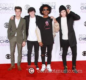 Cameron Dallas, Hayes Grier, Tez Mengestu , Nash Grier - People's Choice Awards 2016 held at the Microsoft Theatre L.A....