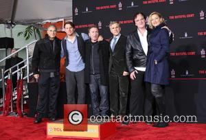 Robert Forster, Channing Tatum, Tim Roth, Christoph Waltz, Quentin Tarantino and Zoe Bell