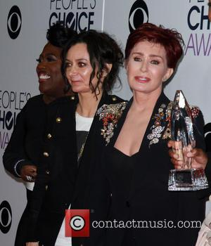Sara Gilbert , Sharon Osbourne - People's Choice Awards 2016 - Press Room held at the Microsoft Theatre L.A. Live...