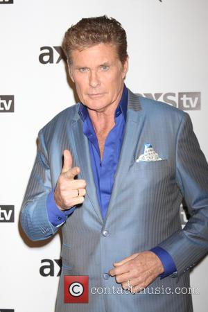 David Hasselhoff Arrives On Baywatch Set